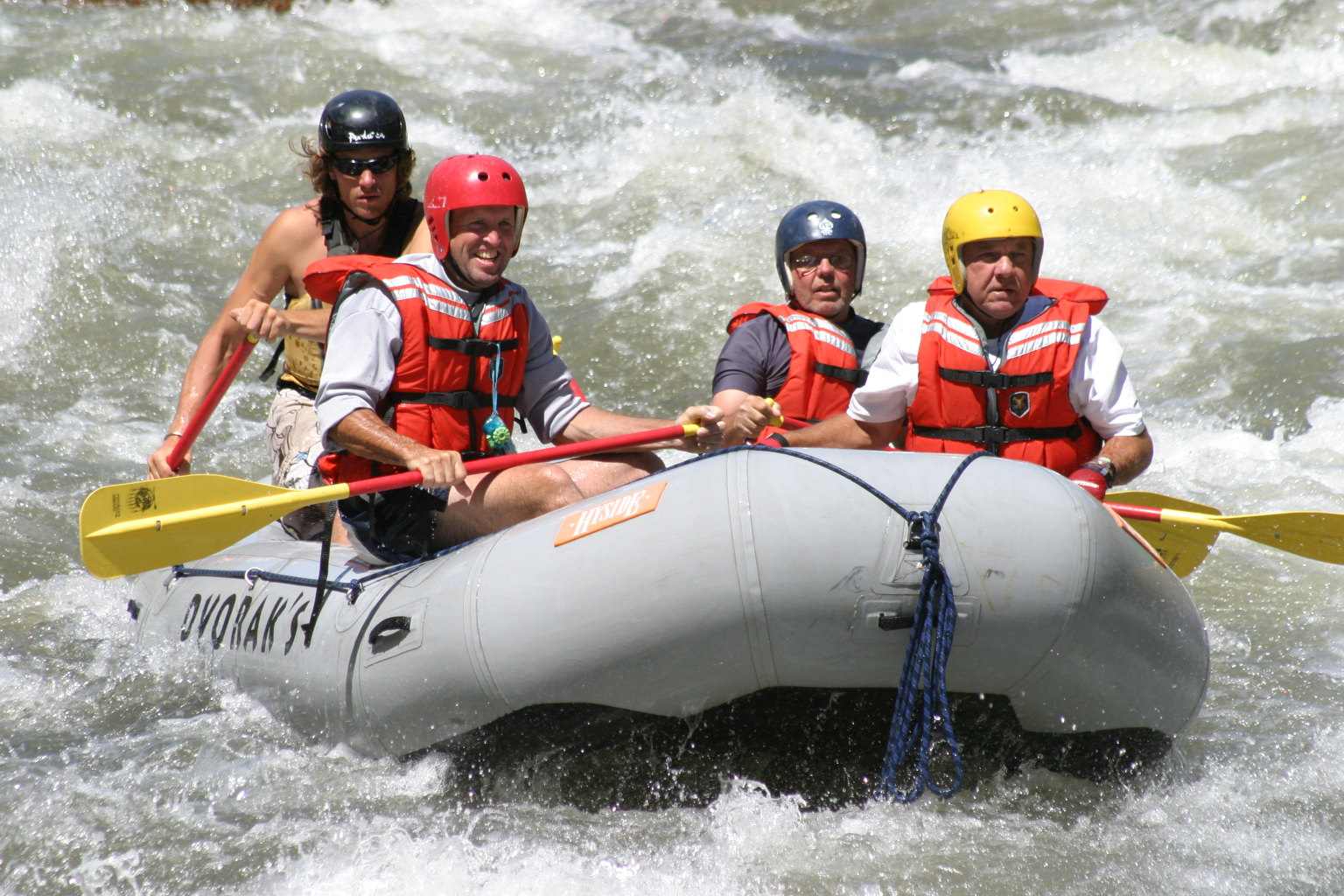Helmets and personal flotation devices are standard on any of our Colorado river rafting trips.