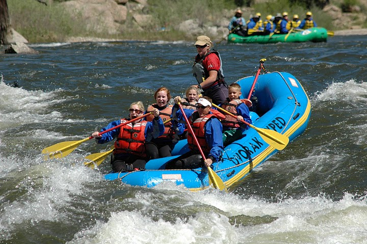 It takes teamwork to take on the rapids as you are rafting down the rivers of Colorado. Listen to your guide and you'll get to your destination safely.