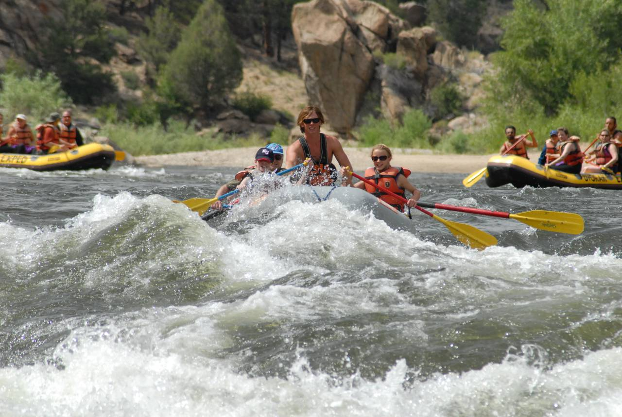 Colorado river rafting through Browns Canyon National Monument