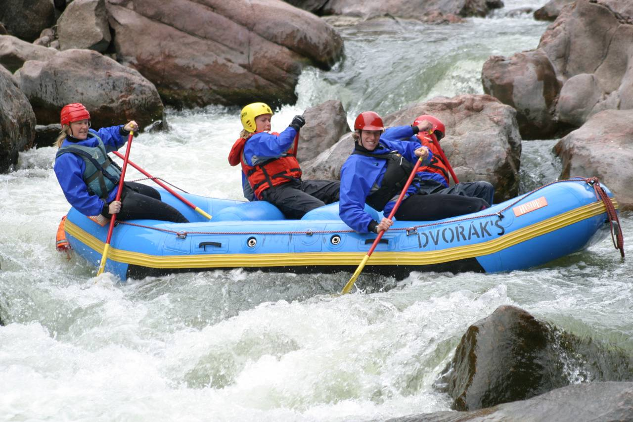 Royal Gorge on the Arkansas River will test your paddling skills with Class IV and V rapids.