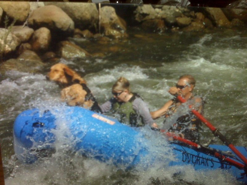 Jaci, Bill and Maggie Dvorak. The first family of outdoor river rafting guides in the US.