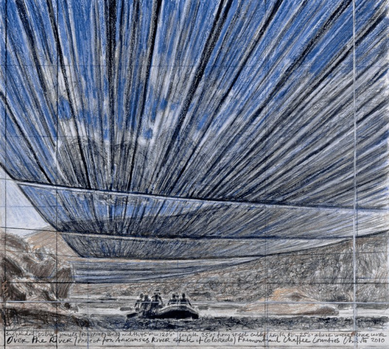 2010 Drawing of Christo's Over the River