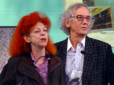 "Christo and Jeanne-Claude, the artists behind the Over the River art installation. Photo by Martin Dürrschnabel - File:Christo and Jeanne-Claude.jpg by Martin Dürrschnabel. Li""Christo and Jeanne-Claude crop"" by Martin Dürrschnabel - File:Christo and Jeanne-Claude.jpg by Martin Dürrschnabel. Licensed under CC BY-SA 2.5 via Wikimedia Common"